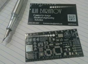 Making a PCB business card