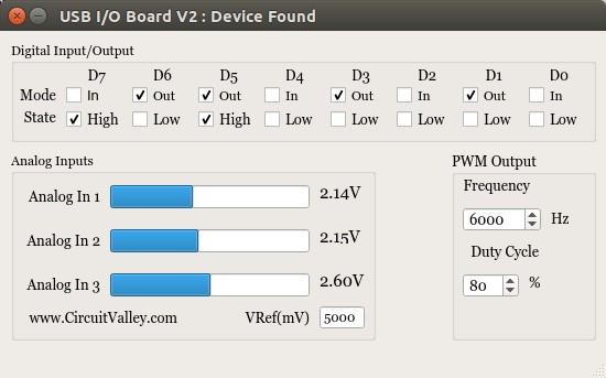 Cross Platform  USB I/O Board With PWM in Qt5 , I/O Board V2 17