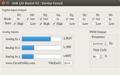 Cross Platform  USB I/O Board With PWM in Qt5 , I/O Board V2 19
