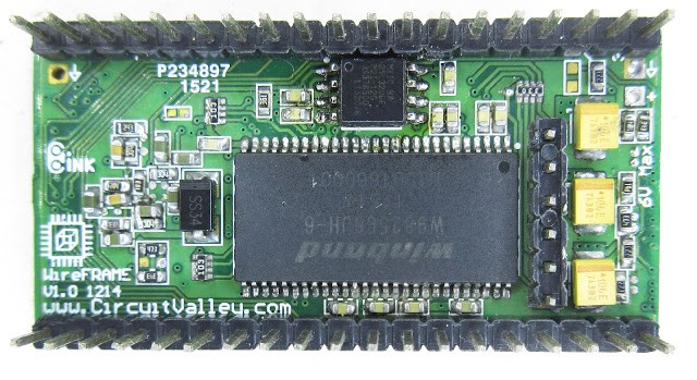 WireFrame FPGA Board , Breadboardable Xilinx XC3S250E Board 13