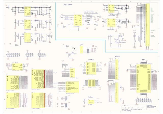 WireFrame FPGA Board , Breadboardable Xilinx XC3S250E Board 15